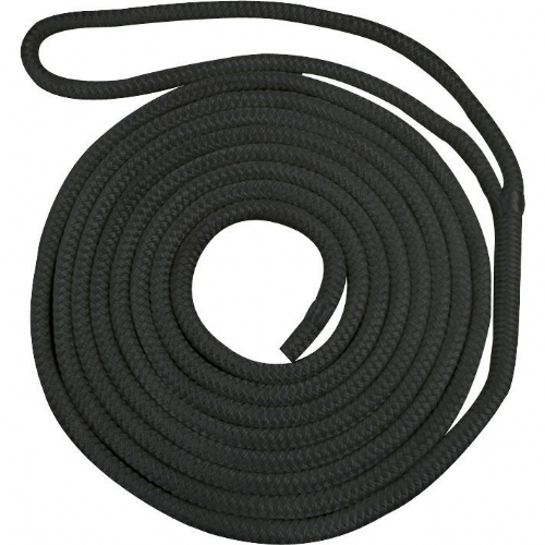Waveline Pre-Spliced Black Dockline Rope